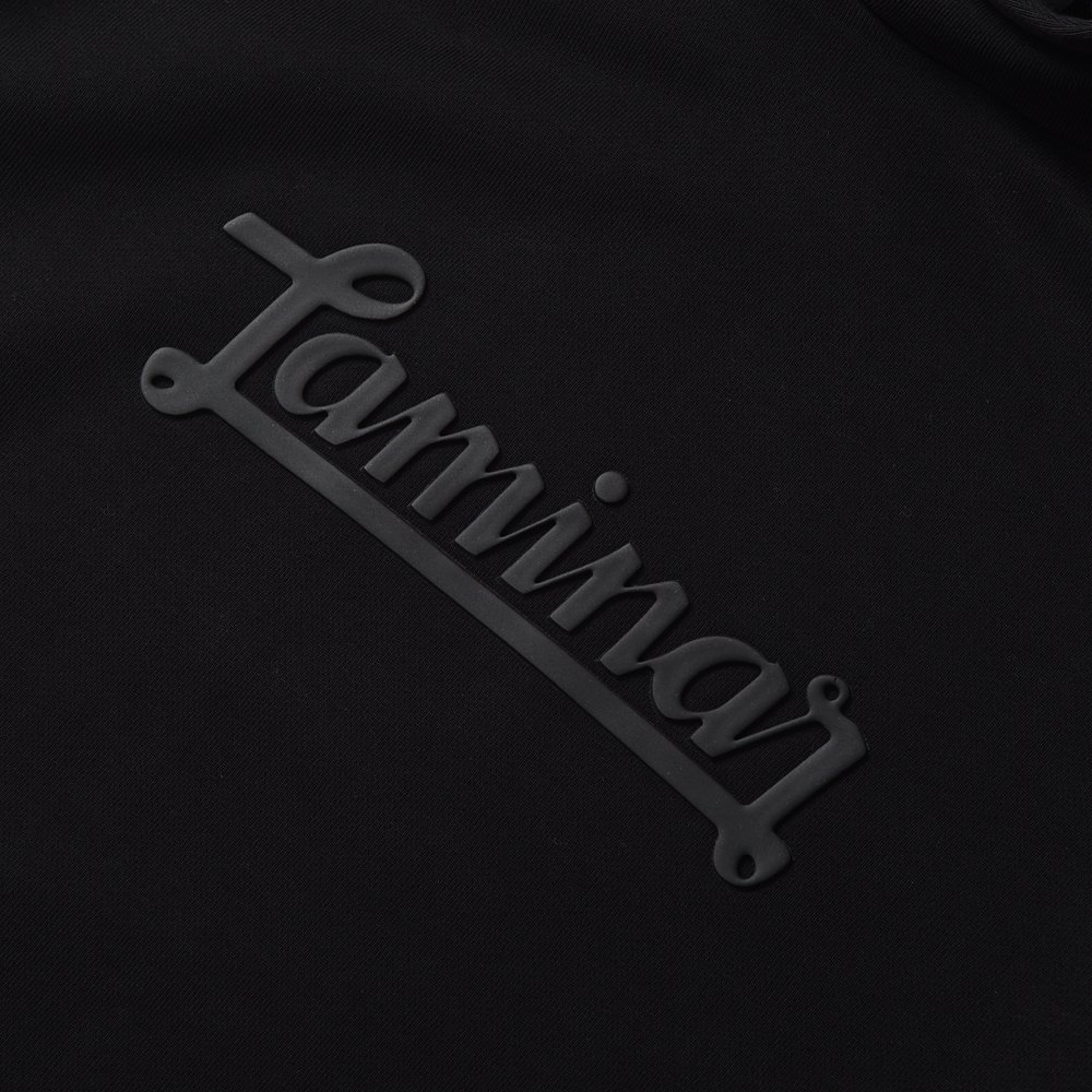 HERNO Laminar ヘルノ ラミナー エンボス ロゴ スウェット プルオーバーパーカ BLACK