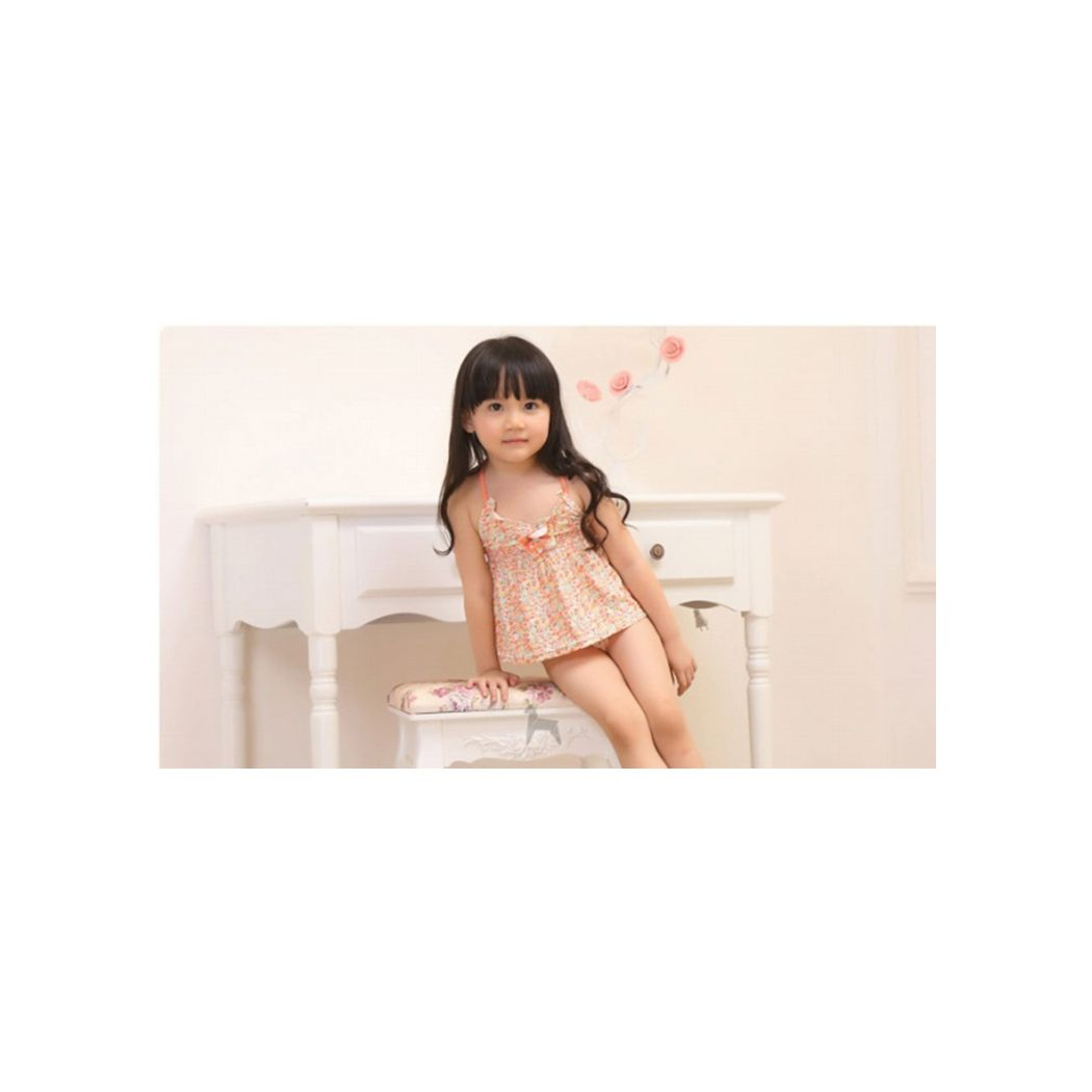 キッズ 水着 女の子 セパレート 子供 ジュニア ワンピース風 タンキニ スイムキャップ 3点セット スイムウェア 送料無料 即日発送