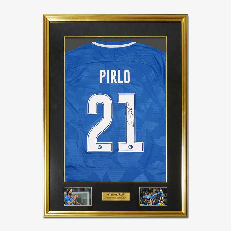 ピルロ直筆サイン入りブルースターズ2018ユニフォーム特製フレーム (引退試合)