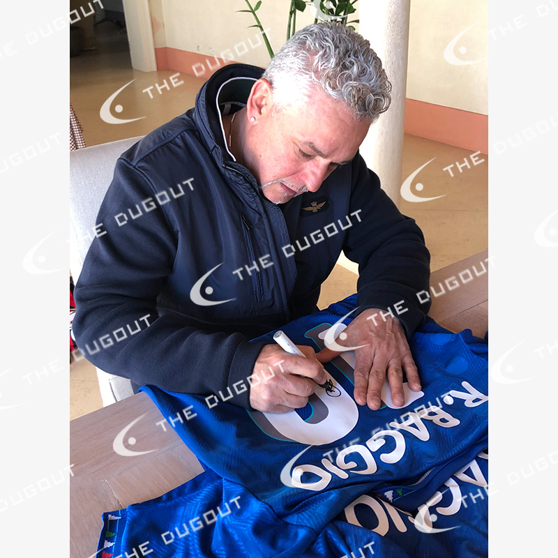 バッジョ直筆サイン入りイタリア代表1994ホームユニフォーム (オリジナル)