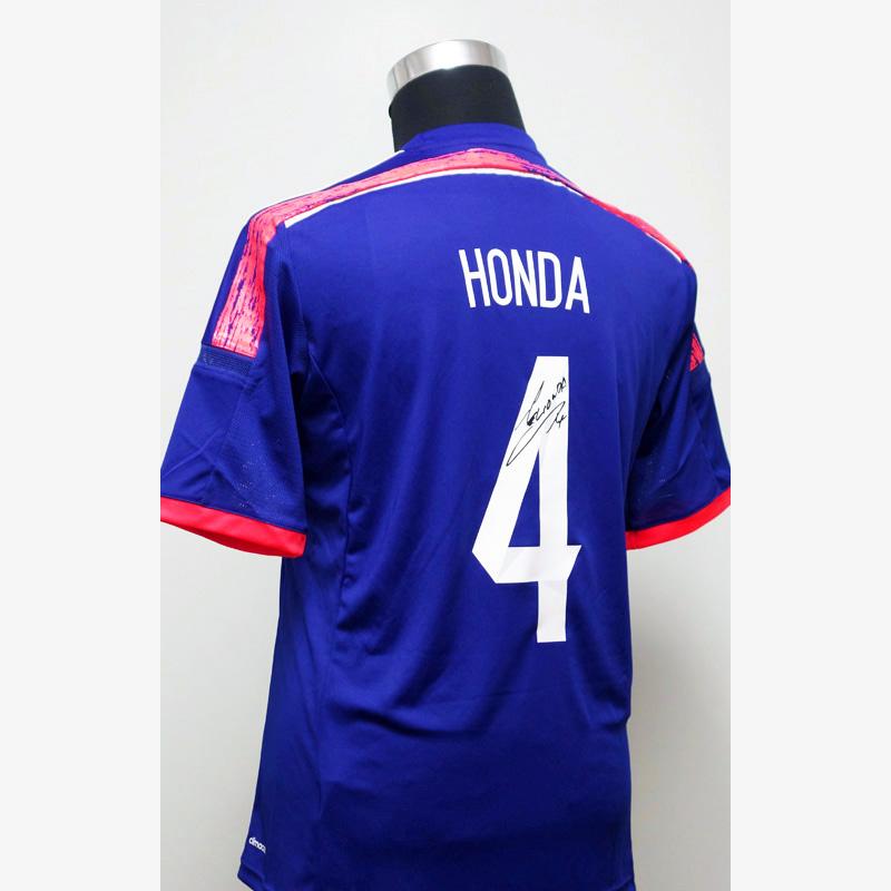 本田圭佑 直筆サイン入り日本代表2014ホームユニフォーム