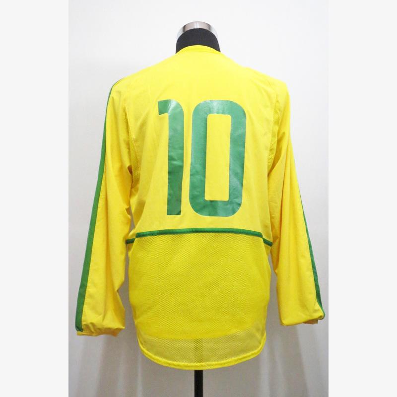 リバウド直筆サイン入り選手支給ブラジル代表02/03ホームユニフォーム