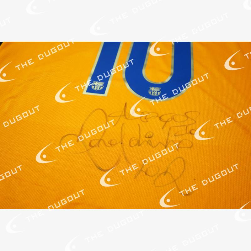 ロナウジーニョ直筆サイン入り選手支給バルセロナ07/08サードユニフォーム
