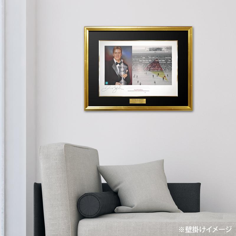 ベッカム直筆サイン入り96/97マンチェスターUアート
