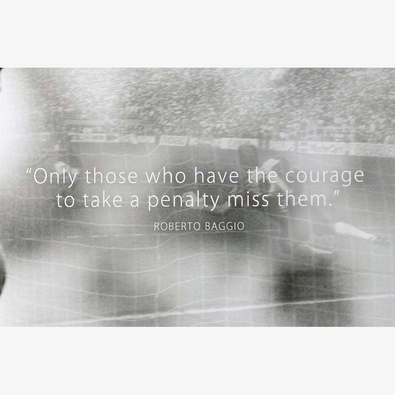 """[世界限定10枚] バッジョ直筆サイン入りクォートアート """"The Courage"""""""