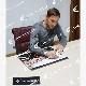 """[世界限定30枚] トッティ直筆サイン入りグラフィックアート """"Una squadra per la vita"""""""