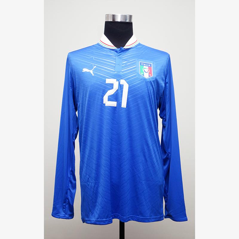 ピルロ直筆サイン入りイタリア代表2012ホームユニフォーム