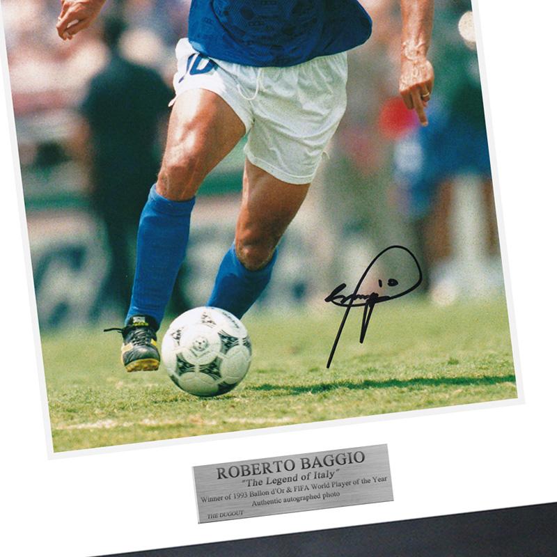バッジョ直筆サイン入りイタリア代表1994フォト特製フレーム