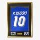 バッジョ直筆サイン入りイタリア代表1994ホームユニフォーム特製フレーム (オリジナル)
