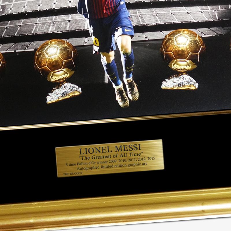 """[世界限定30枚] メッシ直筆サイン入りグラフィックアート """"The Golden Ball"""""""