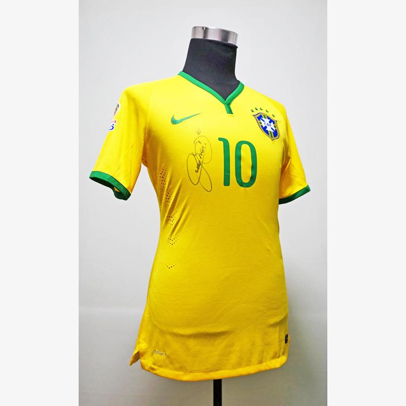 ネイマール直筆サイン入り選手支給ブラジル代表14/15ホームユニフォーム (コパアメリカ2015)