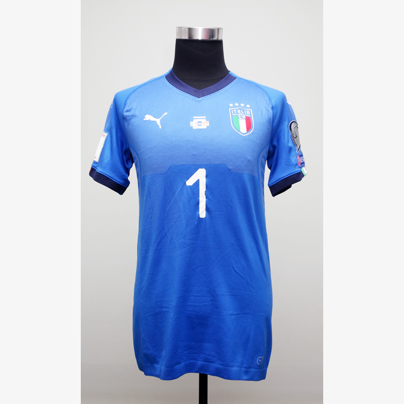 ブッフォン直筆サイン入り選手支給イタリア代表17/18ホームユニフォーム