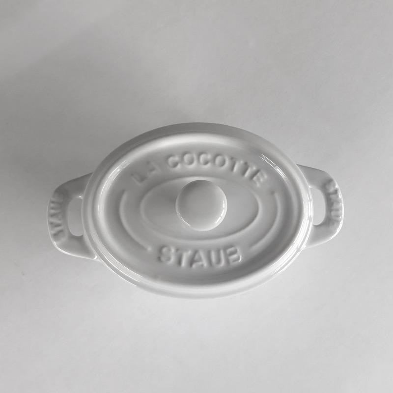 セラミック ミニオーバルココット 11cm / ホワイト 【STAUB】