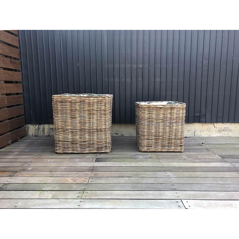 60cm ラタン鉢カバー スクエア  Lサイズ