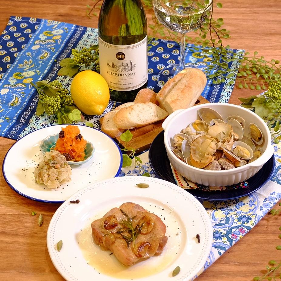 「ワイン倶楽部」の白ワインを楽しむおつまみセット