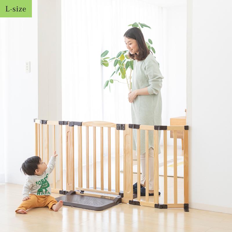 日本育児 おくだけドアーズWoody-Plus Lサイズ すべり止めマット付き