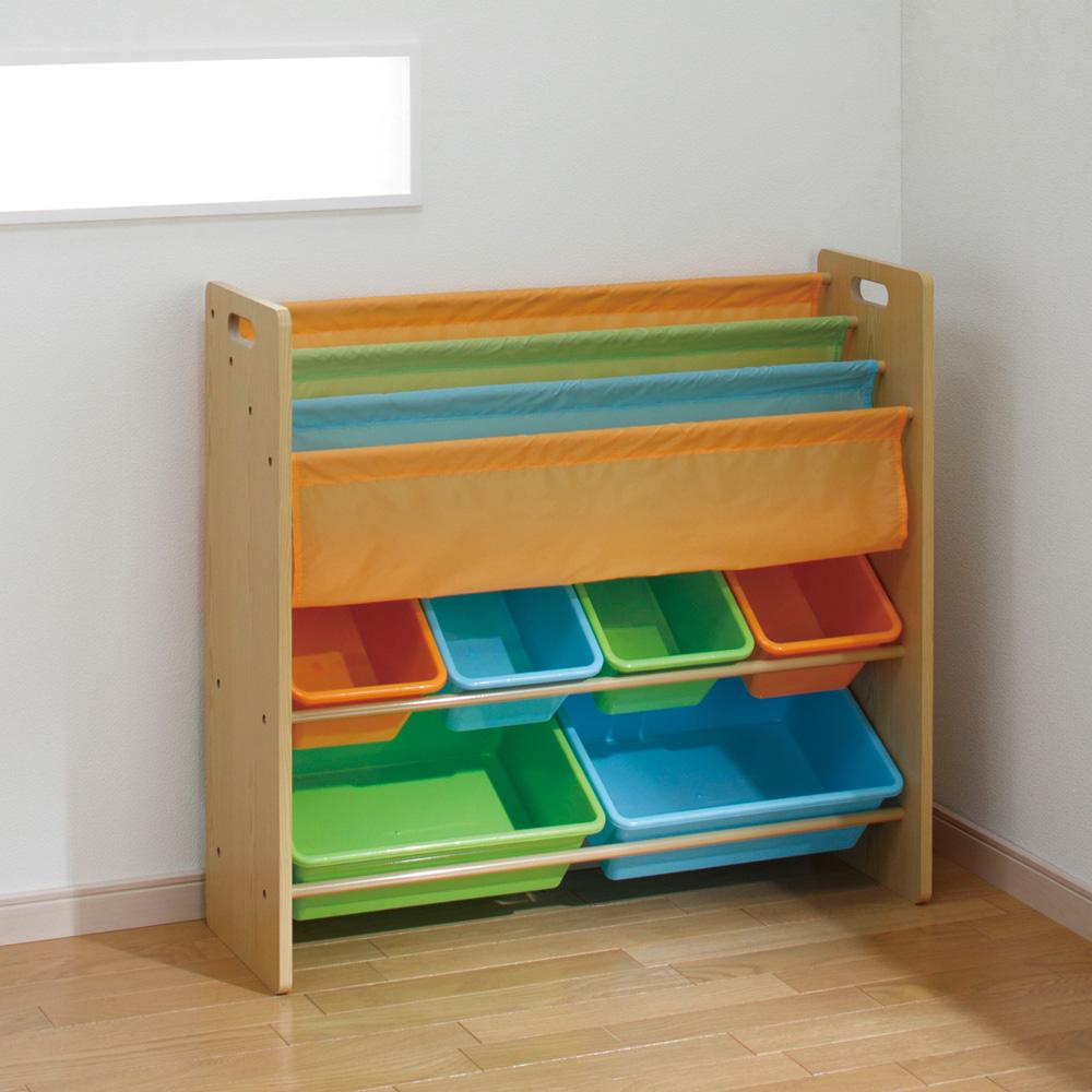日本育児 おかたづけ大すき BOOK&TOY 収納ボックス 本棚 おもちゃ収納