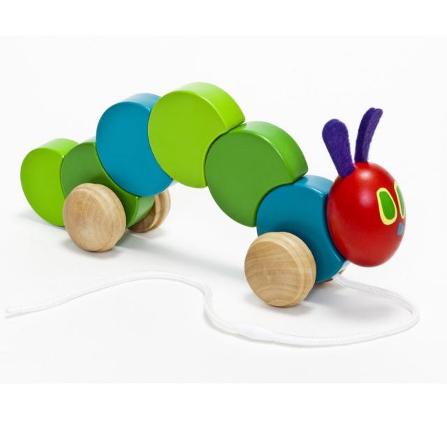 日本育児 EricCarle(エリックカール)  はらぺこあおむし 木製くねくねプルトイ