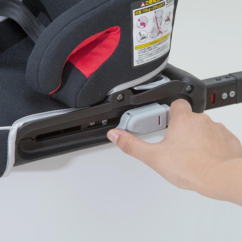 日本育児 コンパクト チャイルドシート トラベルベストEC Fix 収納袋付き