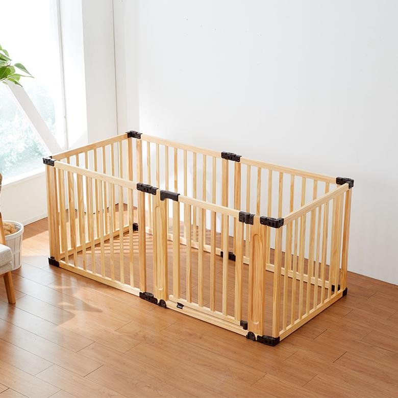 【送料無料】日本育児 たためる木製サークル フレックスDX