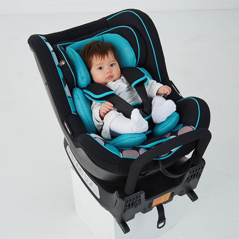 日本育児 バンビーノ360Fix 北欧デザイン チャイルドシート 新生児 回転式 ISOFIX