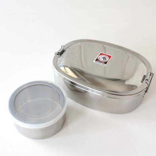 ゼブラ 弁当箱 ステンレス ランチボックス オーバル型 16cm ストッカー付き ZEBRA 正規品