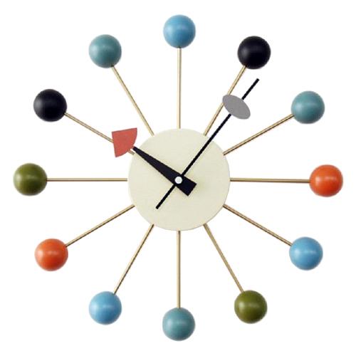 ジョージ・ネルソン ボールクロック マルチカラー 正規ライセンス版 掛け時計