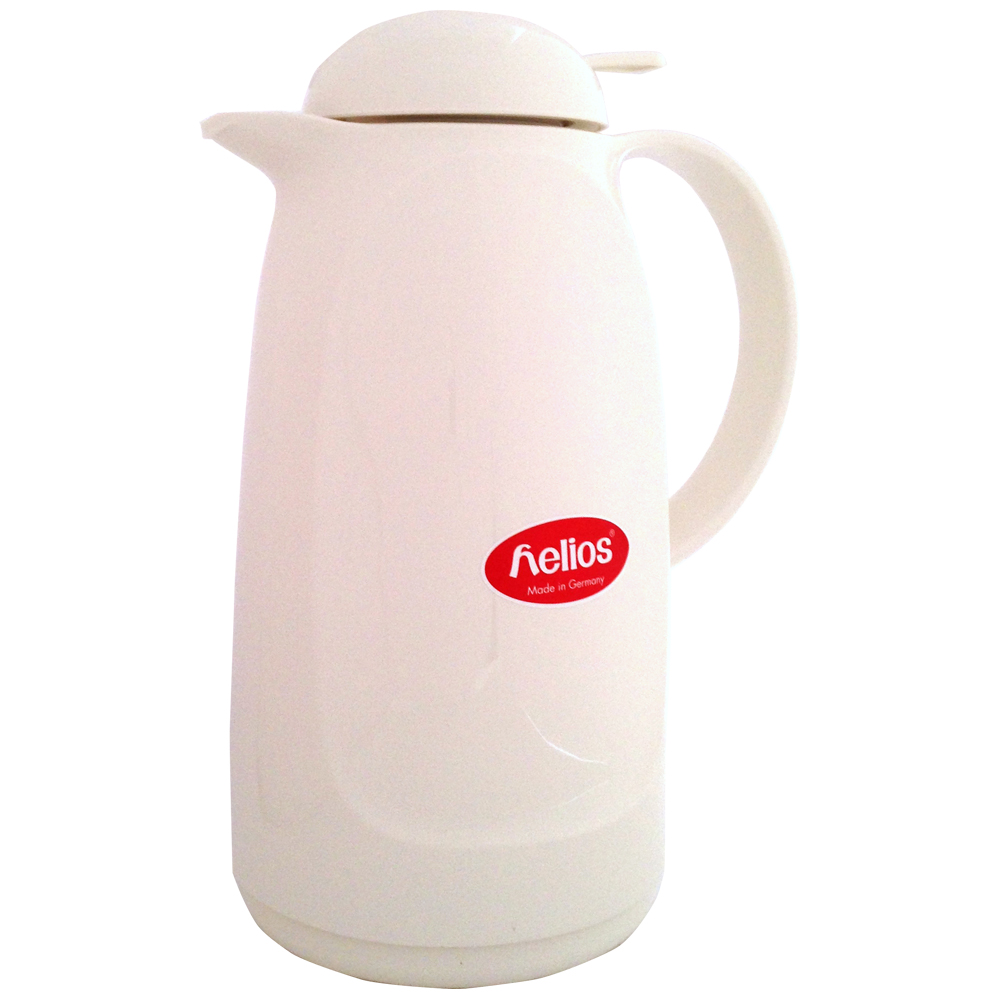 helios ヘリオス リラックスプッシュ ホワイト 魔法瓶 ポット ドイツ 卓上魔法瓶 ガラス魔法瓶