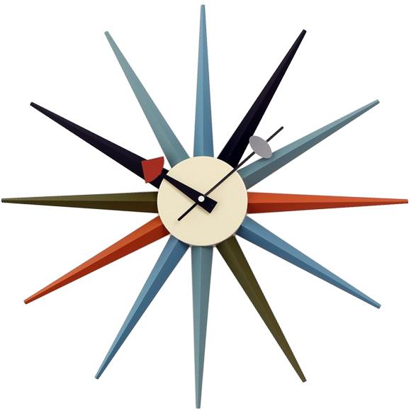 ジョージ・ネルソン サンバーストクロック マルチカラー 正規ライセンス版 掛け時計