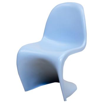 パントンチェア ブルー つやなし ヴェルナー・パントン 椅子 スタッキングチェア