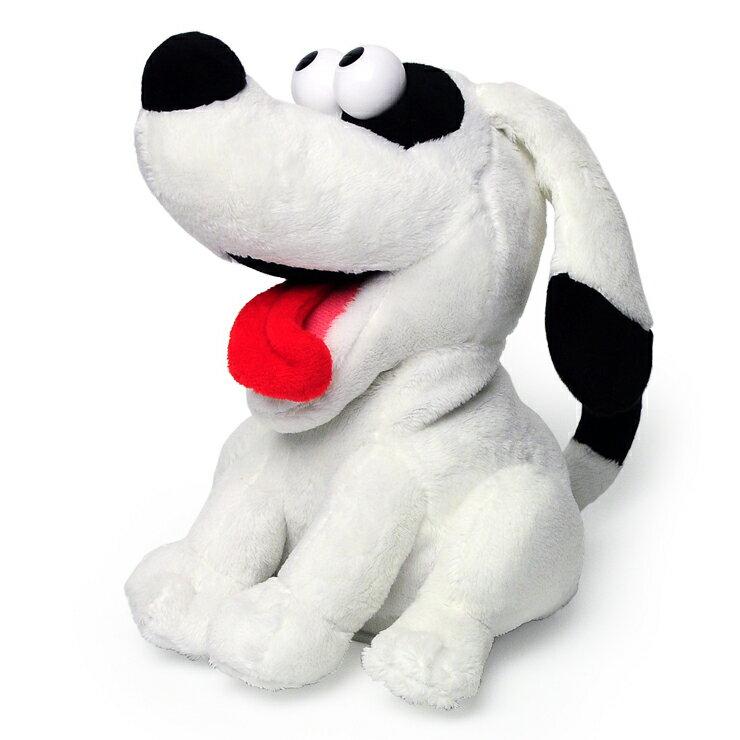 マイムフレンズ Mime Friends ホワイトドッグ ものまね ぬいぐるみ オウム返し 白い犬 いぬ 犬 かわいい おもちゃ White dog