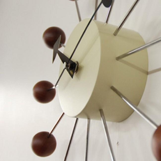 ジョージ・ネルソン ボールクロック ウォルナット ウォールナット 正規ライセンス版 掛け時計