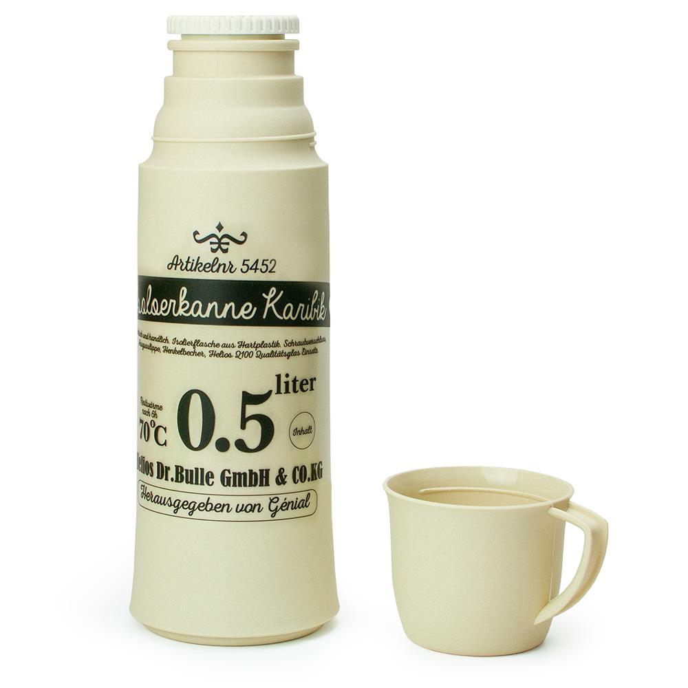 helios ヘリオス カリビック ジェニアル オフホワイト Karibik Genial 500ml ガラス卓上魔法瓶