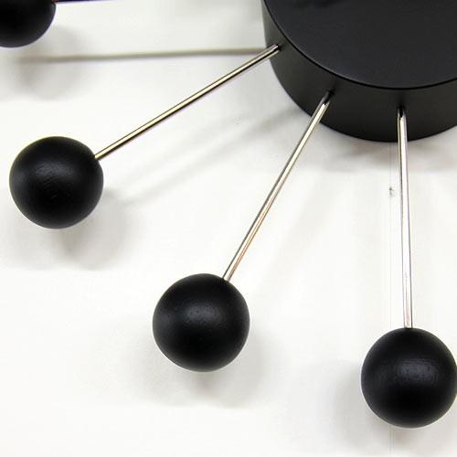 ジョージ・ネルソン ボールクロック ブラック 黒 正規ライセンス版 掛け時計