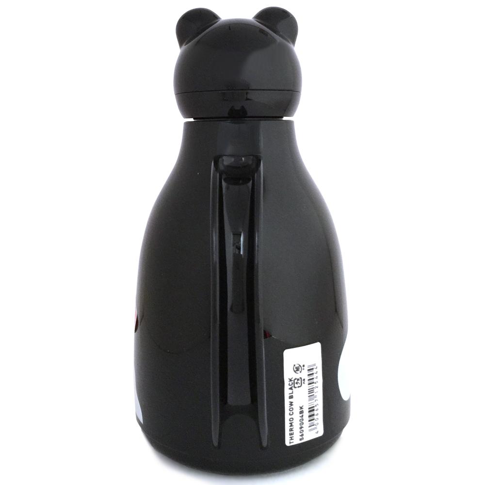 helios ヘリオス サーモカウ ブラック 魔法瓶 ポット 卓上魔法瓶 ガラス魔法瓶  ガラスポット
