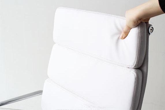 イームズ アルミナムチェア オフィスチェア ハイバック ソフトパッド ホワイト PVC アルミナムグループ