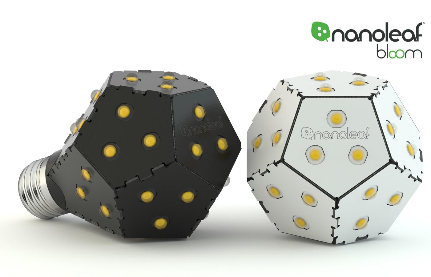 nanoleaf bloom ナノリーフ ブルーム ブラック LED電球 E26口径 1200ルーメン75W相当