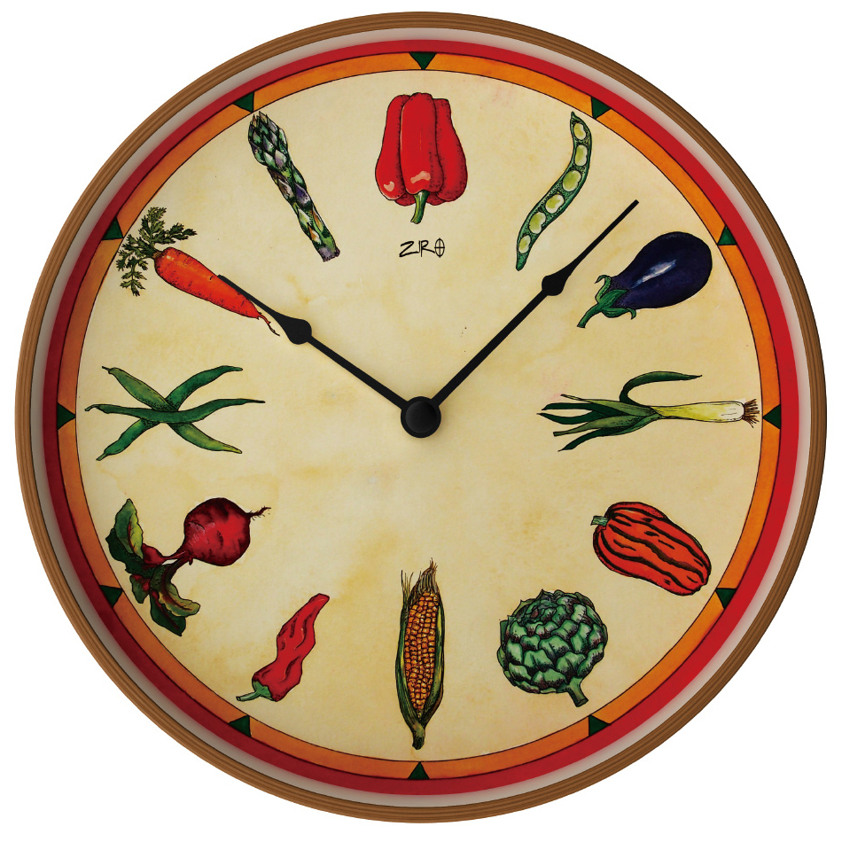 オリバー・ヘミング ZIRO ジロ ウォールクロック HEALTHY VEGETABLES ヘルシーベジタブルズ Oliver Hemming おしゃれ 掛け時計 壁掛時計