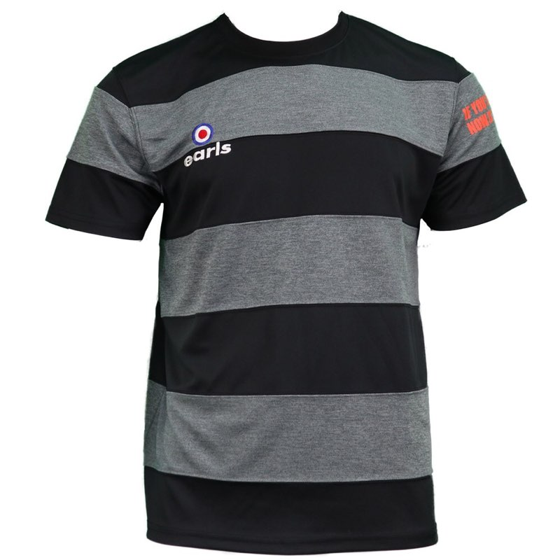 DRY杢ボーダー切替プラシャツ