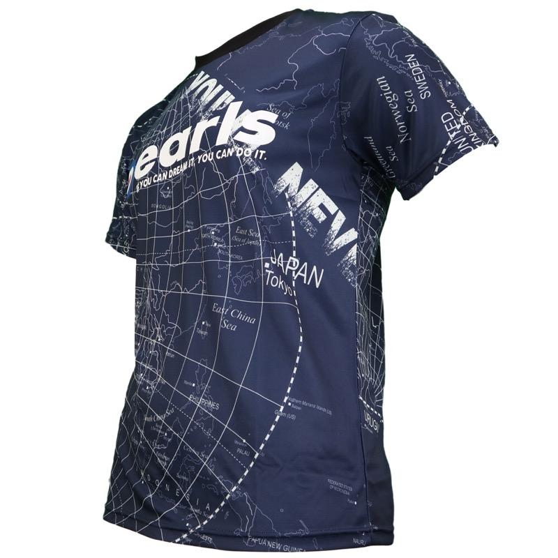 マップ柄昇華プラシャツ