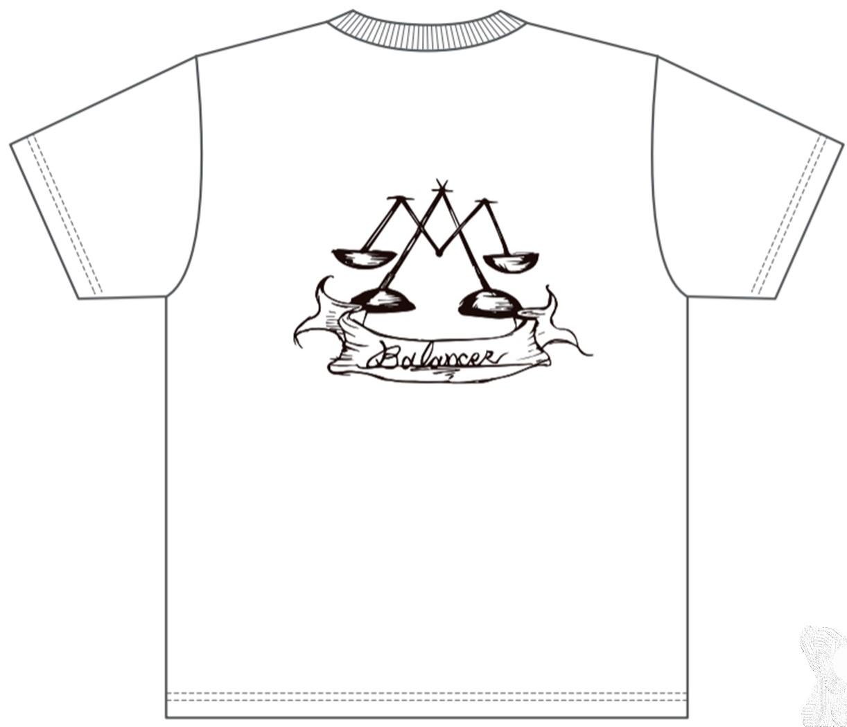 販売終了【BALANCER】ハイクオリティワッペンTシャツ WHITE