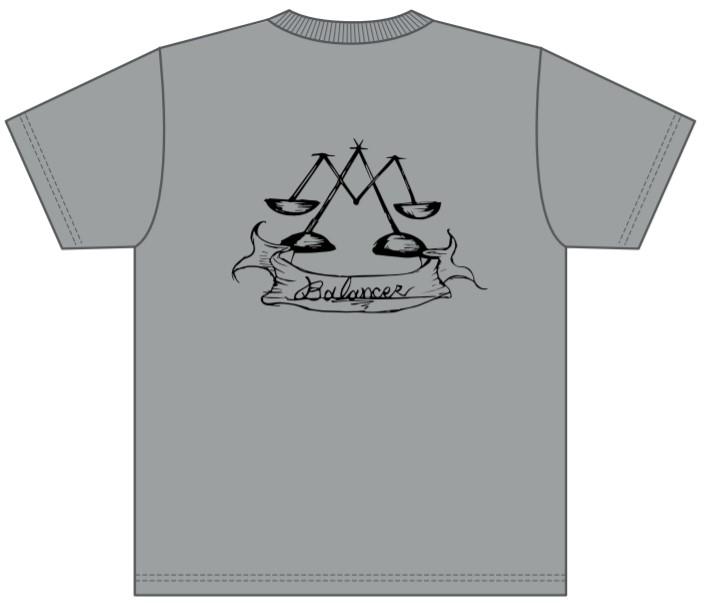 販売終了【BALANCER】ハイクオリティーワッペンTシャツ GRAY