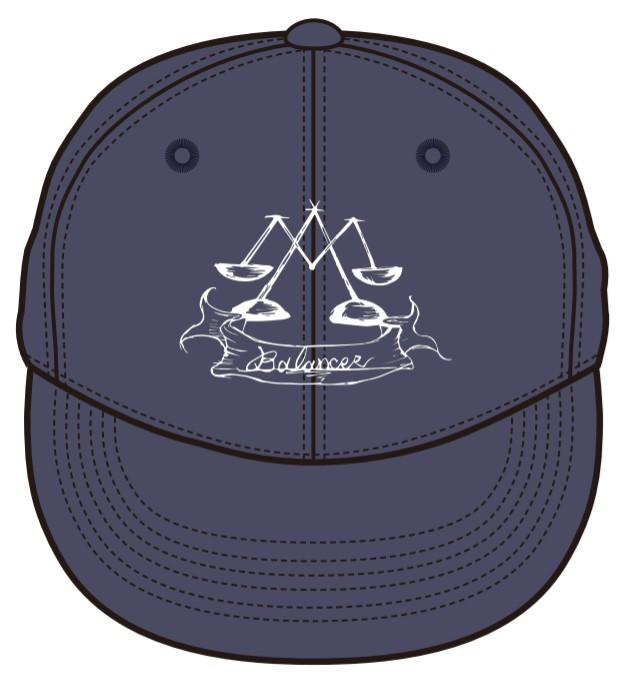 販売終了【BALANCER】刺繍ロゴフラットバイザーキャップ