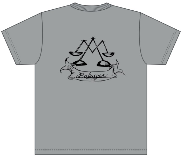 販売終了【BALANCER】ジュニアサイズ ハイクオリティーワッペンTシャツ GRAY