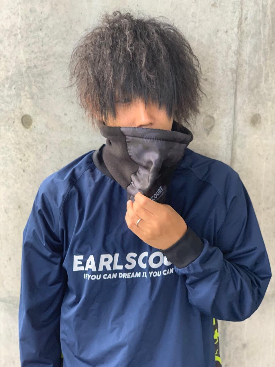 カモ柄ネックウォーマー【EARLSCOURT】アールズコート EC-A031