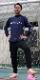 CAMO柄サイド切替ロングプラシャツ