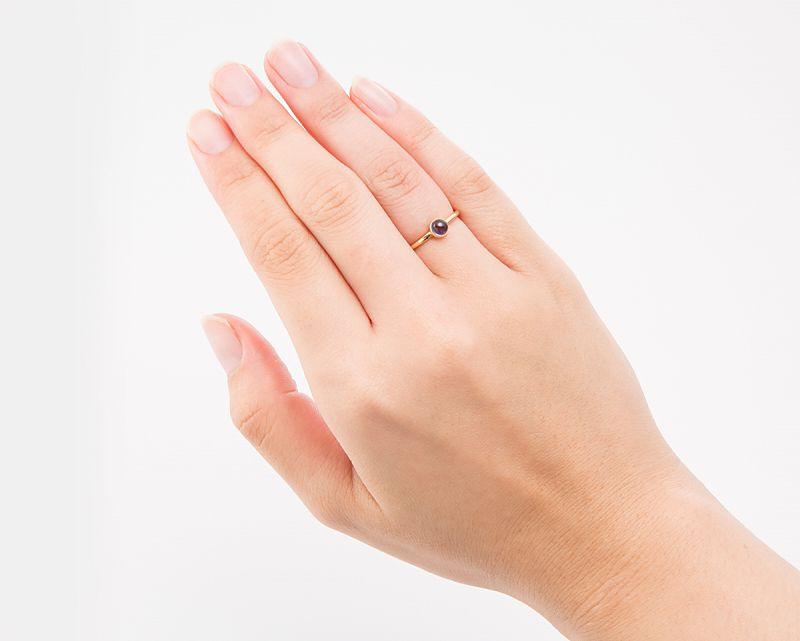 アイオライト K18リング・指輪 【前進・目標】 LUCAS  - Clochette [送料無料]