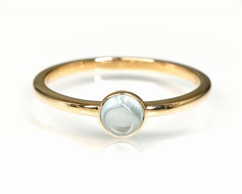 アクアマリン K18リング・指輪 【幸福・愛情】 LUCAS  - Clochette [送料無料]