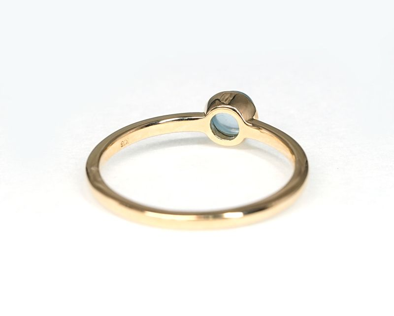 アクアマリン K18リング・指輪 【幸福・愛情】 petitnoel  - Clochette [送料無料]