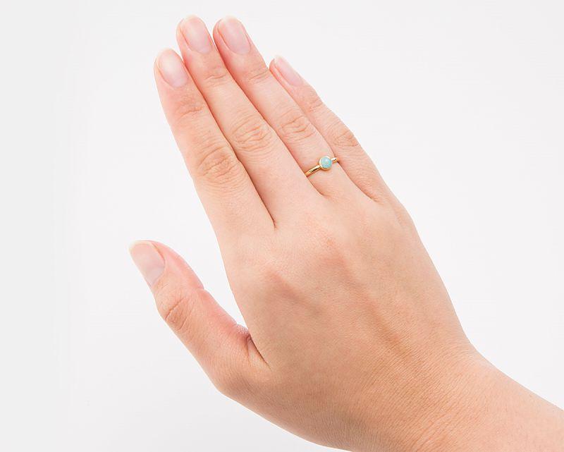 アマゾナイト K18リング・指輪 【希望・夢】  LUCAS  - Clochette [送料無料]
